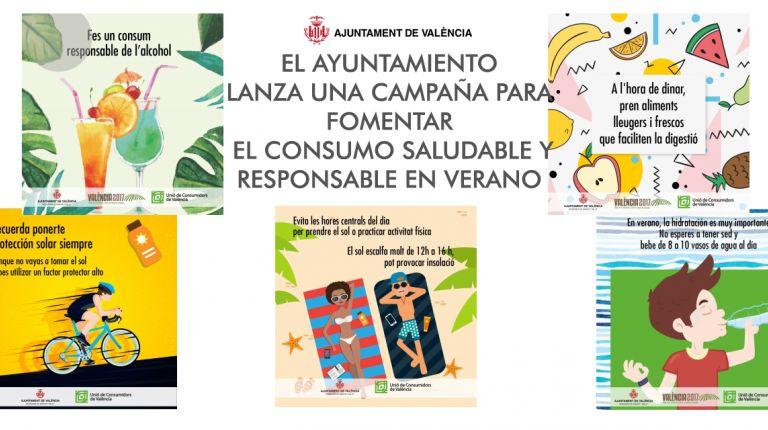 EL AYUNTAMIENTO LANZA UNA CAMPAÑA PARA FOMENTAR EL CONSUMO SALUDABLE Y RESPONSABLE EN VERANO