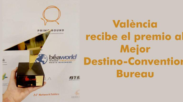 València recibe el premio al Mejor Destino- Convention Bureau