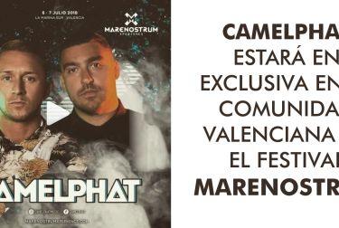 CAMELPHAT ESTARÁ EN EXCLUSIVA EN LA COMUNIDAD VALENCIANA EN EL FESTIVAL MARENOSTRUM