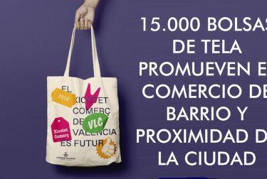 15.000 BOLSAS DE TELA PROMUEVEN EL COMERCIO DE BARRIO Y PROXIMIDAD DE LA CIUDAD