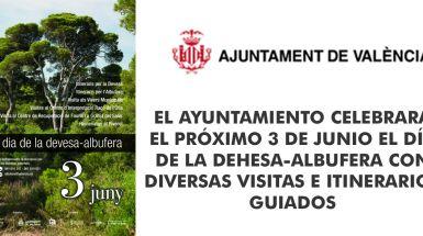 EL AYUNTAMIENTO CELEBRARÁ EL PRÓXIMO 3 DE JUNIO EL DÍA DE LA DEHESA-ALBUFERA CON DIVERSAS VISITAS E ITINERARIOS GUIADOS