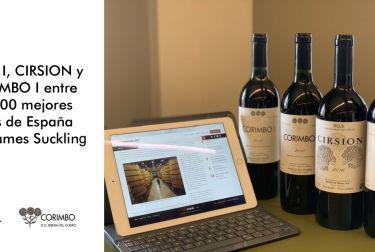 RODA I, CIRSION y CORIMBO I entre los 100 mejores vinos de España para James Suckling
