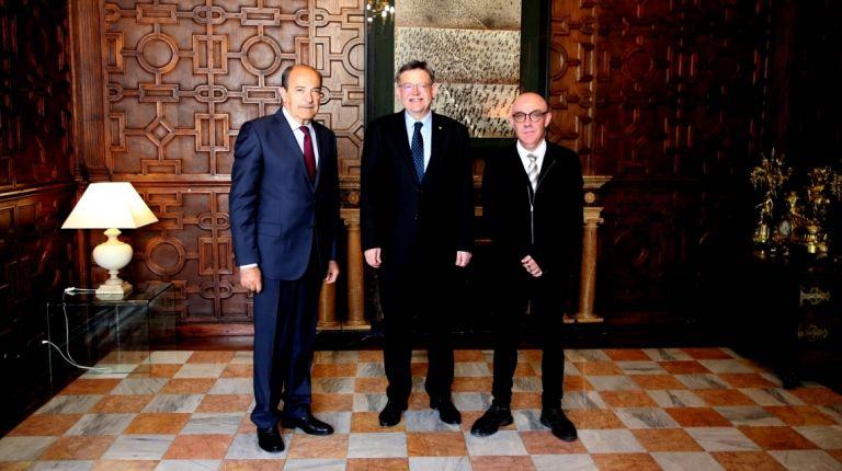 Puig recibe en audiencia al presidente del CERMI de la Comunitat Valenciana
