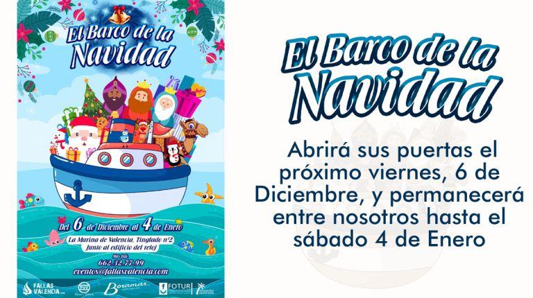 El Barco de la Navidad llega a Valencia
