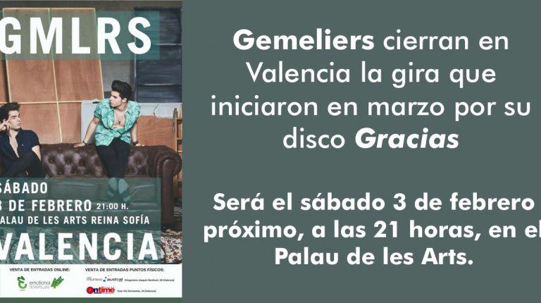 Gemeliers en Valencia. Gracias Tour