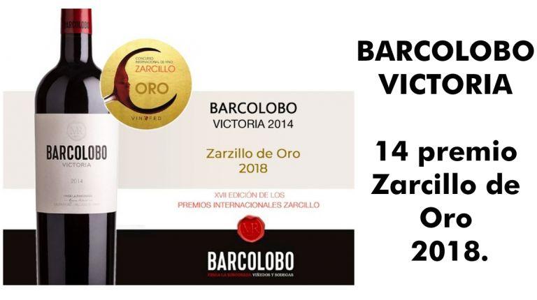 BARCOLOBO VICTORIA '14 premio Zarcillo de Oro 2018
