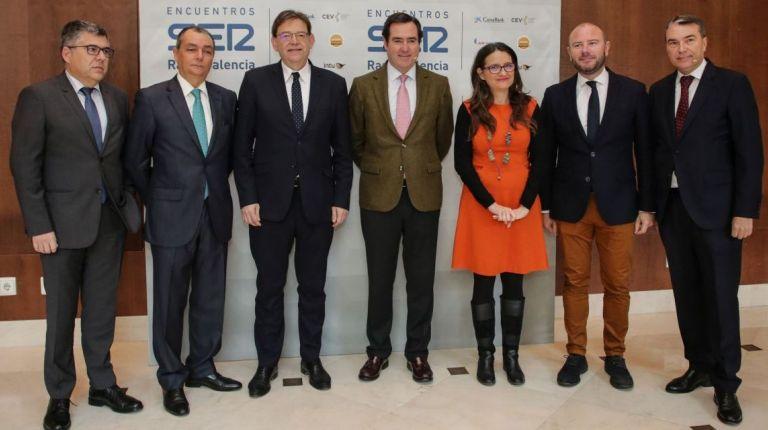 Ximo Puig asiste al encuentro con Antonio Garamendi