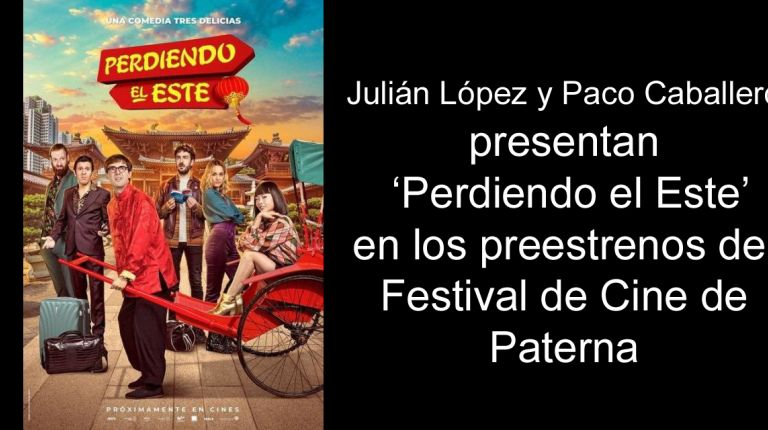 Julián López y Paco Caballero presentan 'Perdiendo el Este' en los preestrenos del Festival de Cine de Paterna