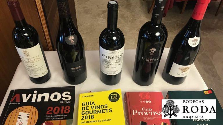 La Cata de los Cinco Mejores Vinos de España nombra campeón a CIRSION 2015 de Bodegas RODA