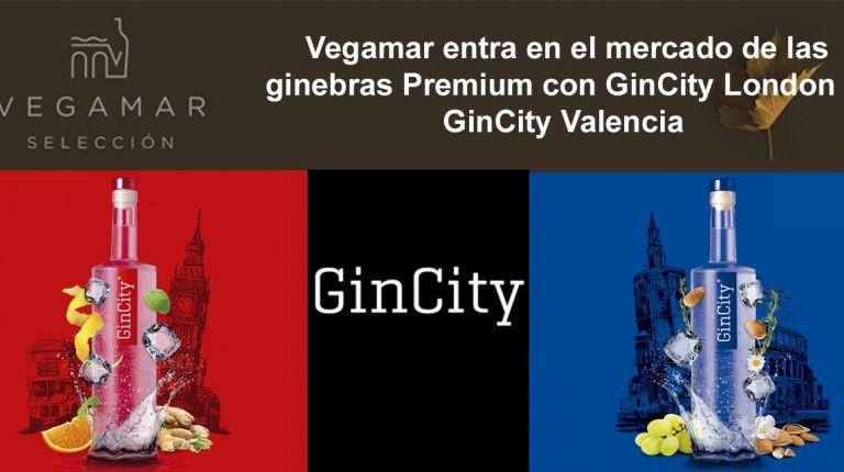 Vegamar entra en el mercado de las ginebras Premium con GinCity London y GinCity Valencia