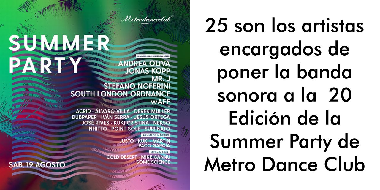SUMMER PARTY MDC :: SAB.19 AGOSTO