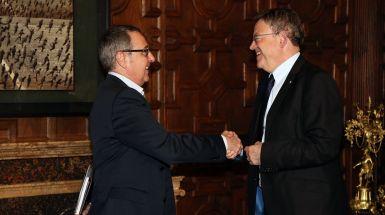 Puig se reúne con el secretario general de CCOO PV, Arturo León