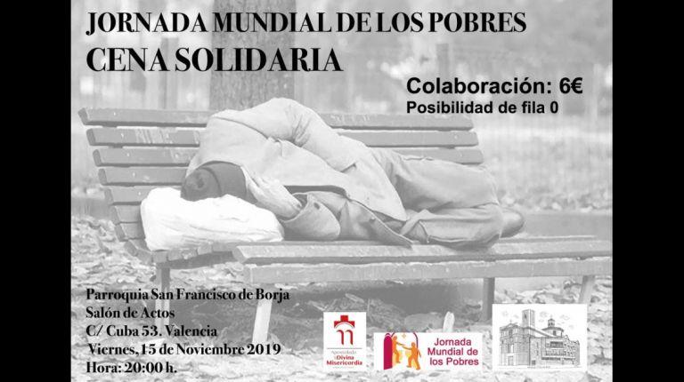 JORNADA MUNDIAL DE LOS POBRES: CENA SOLIDARIA