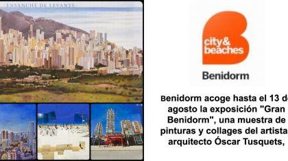 Benidorm celebra el 60 aniversario de su Plan General de urbanismo con una exposición del artista Oscar Tusquets